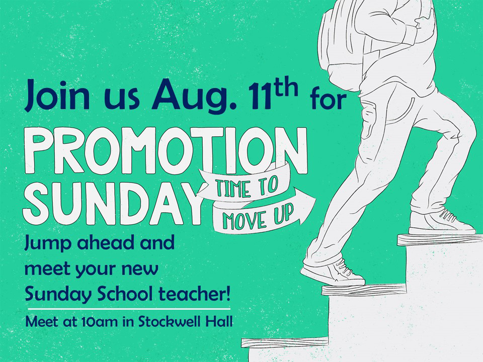 Promotion Sunday 2019 graphic